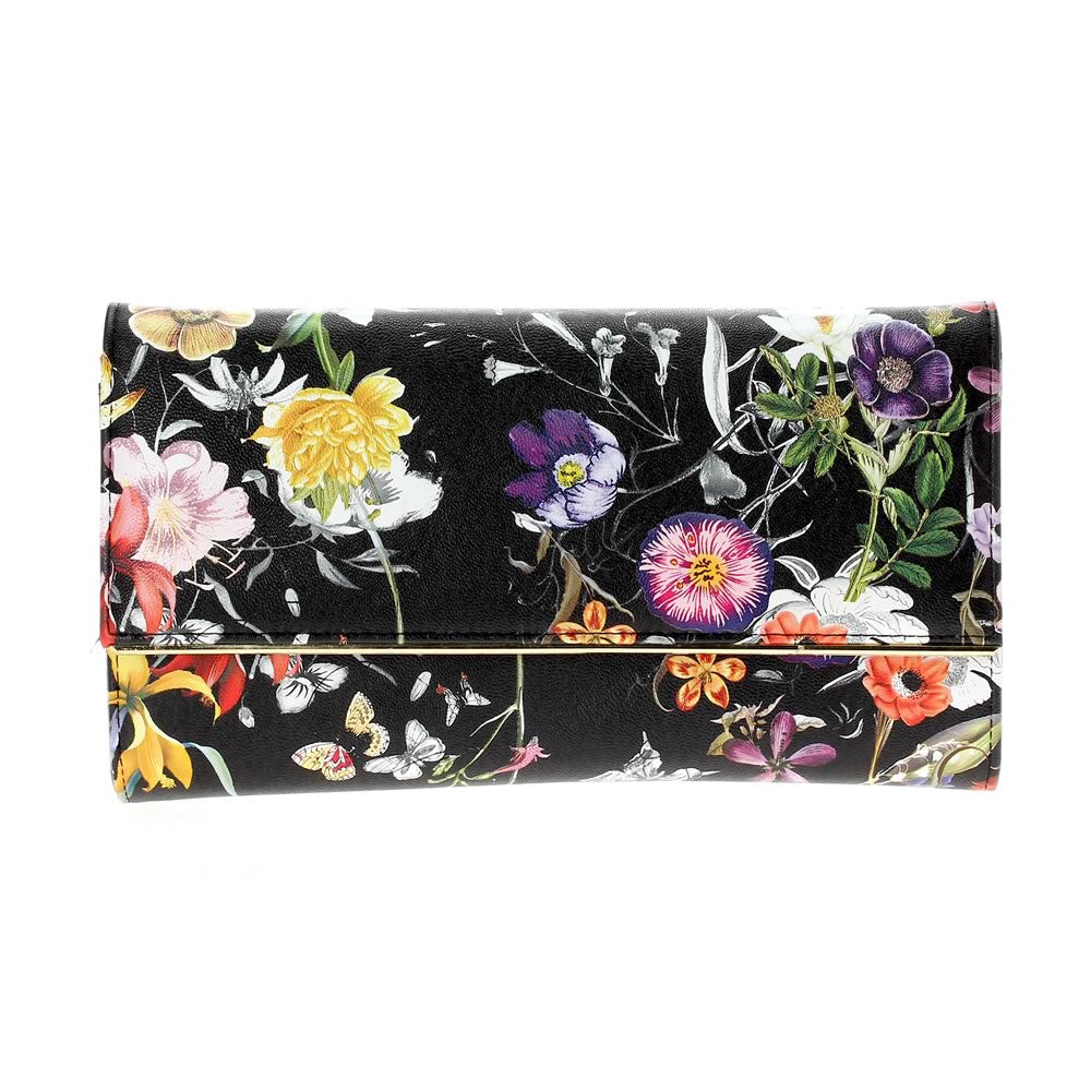 Floral Clutch Black Multi