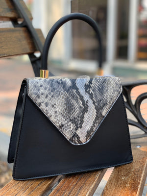 Willow Tote Black Snake