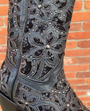 Corral 3752 Black Sequin