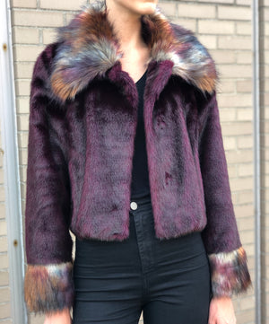 Giselle Jacket Wine Peacock