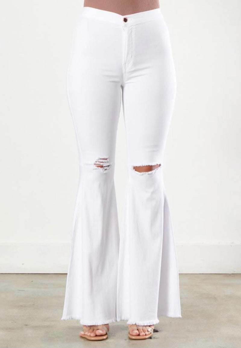 Margo Flare Jeans White