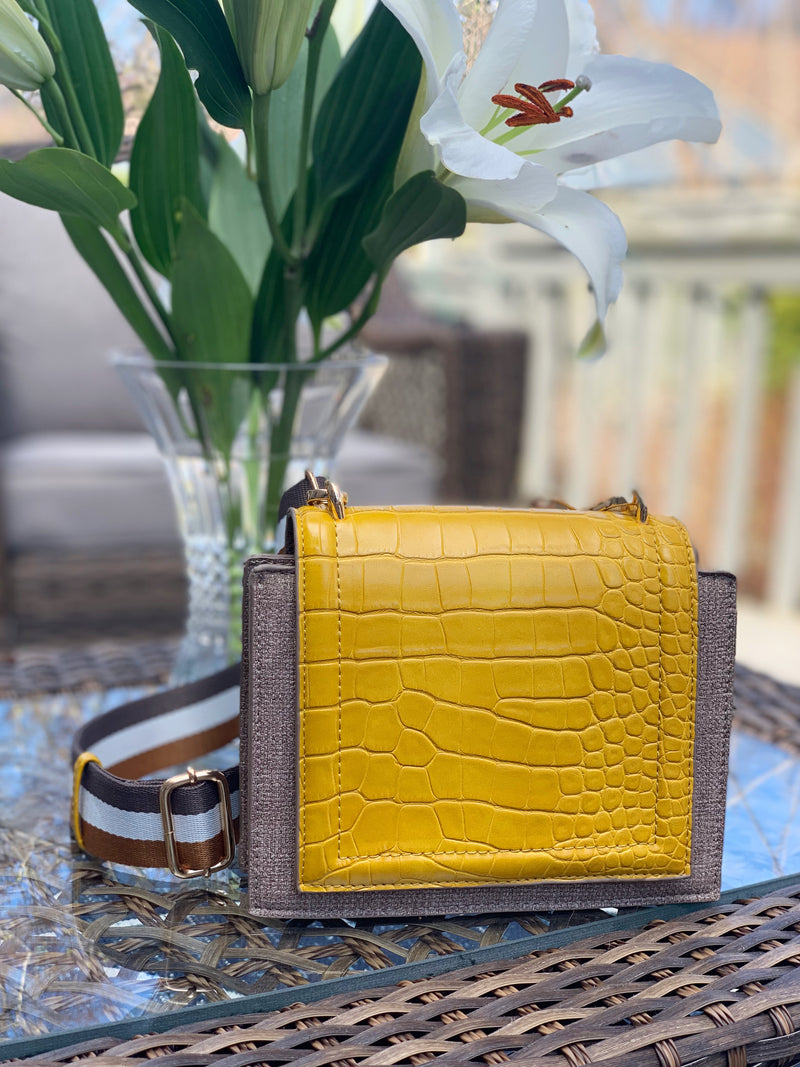 Adeline Crossbody Yellow Taupe