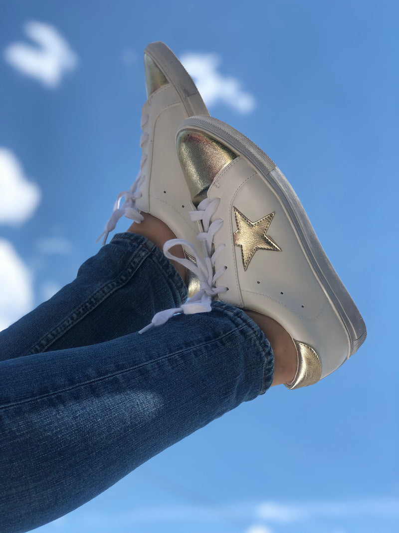 Rock Star Sneaker Gold