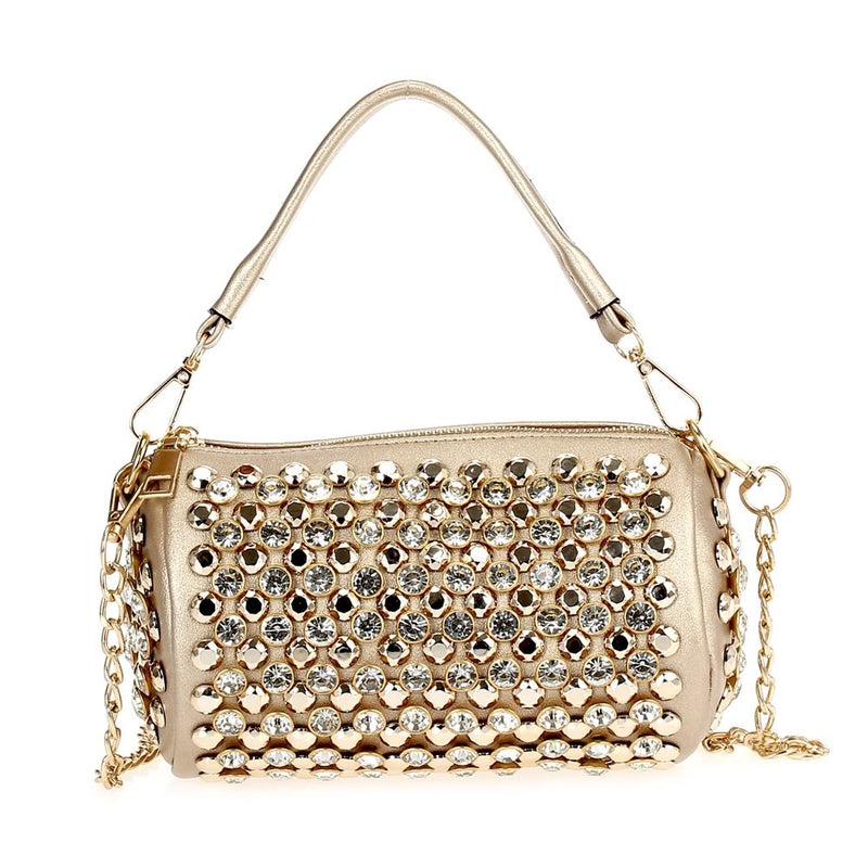 Funky Rhinestone Bag Gold