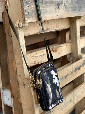 Camo Nylon Crossbody