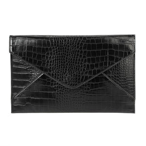 Large Envelope Clutch Black