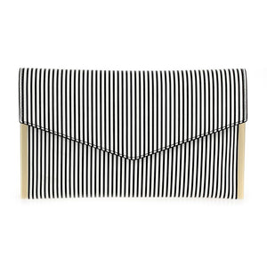 Striped Clutch Black