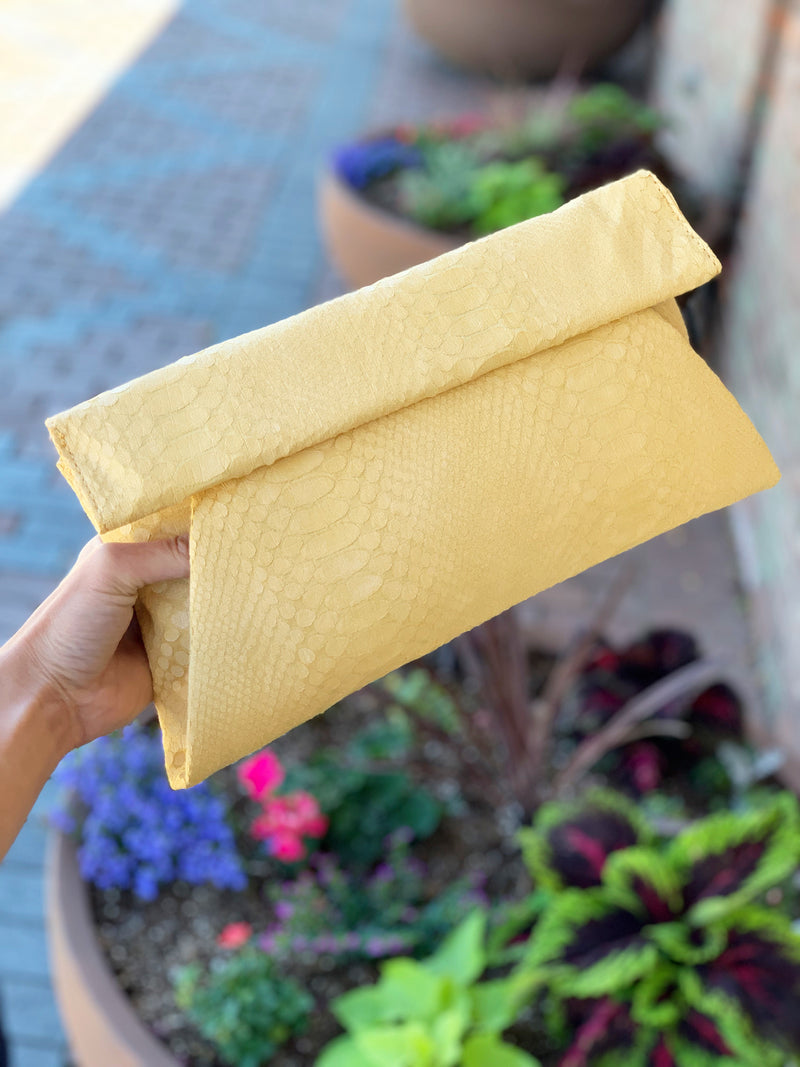 Emilia Clutch Canary Yellow