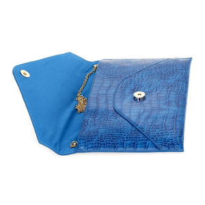 Large Envelope Clutch Blue