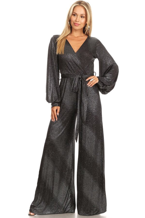 Amelia Jumpsuit Black Sparkle