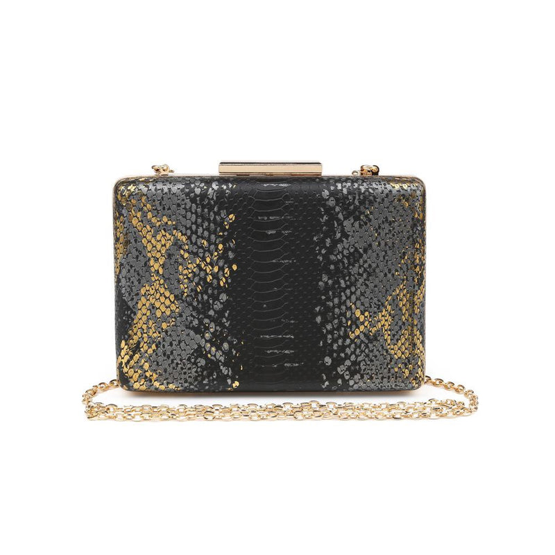 Ivy Black Snake Clutch