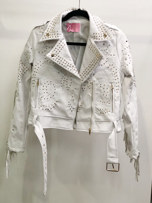 Jones Moto Jacket White