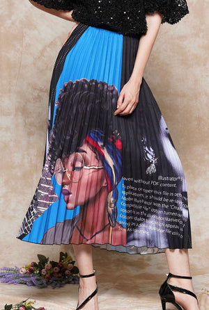 Pleated Face Skirt