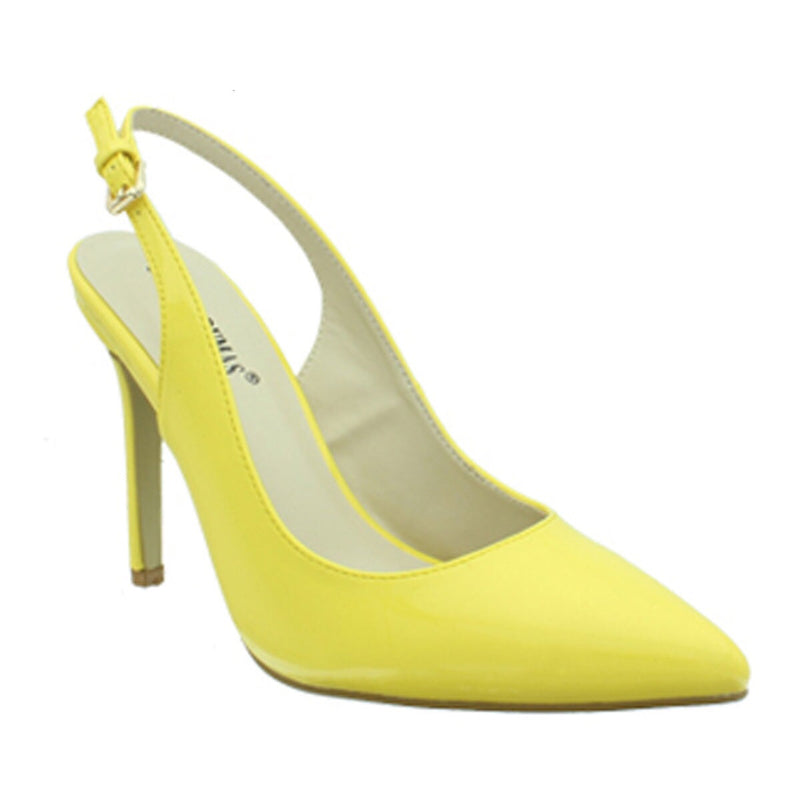 Cherry Slingback Yellow Patent