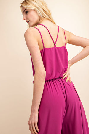 Hailey Jumpsuit Magenta