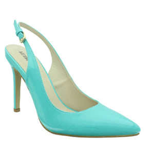 Cherry Slingback Turquoise Patent