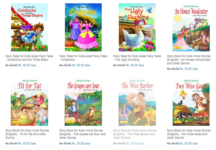 Story Books for Kids | Buy Books worth Rs. 250 and get FREE SHIPPING | Lowest Price Guaranteed | DISCOUNT CODE - MAGIC ONE