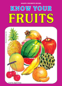 Picture Books for Kids 2 years-Plastic Series - Know Your Fruits