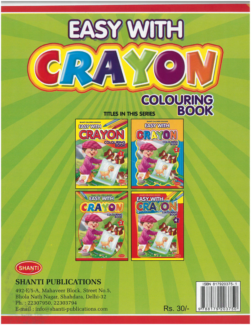 Colouring Book for Kids 3 years-Easy with Crayon - Colouring Book - 1