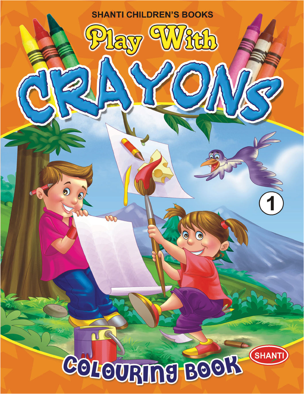 Colouring Books for Children - Play with Crayons - 1