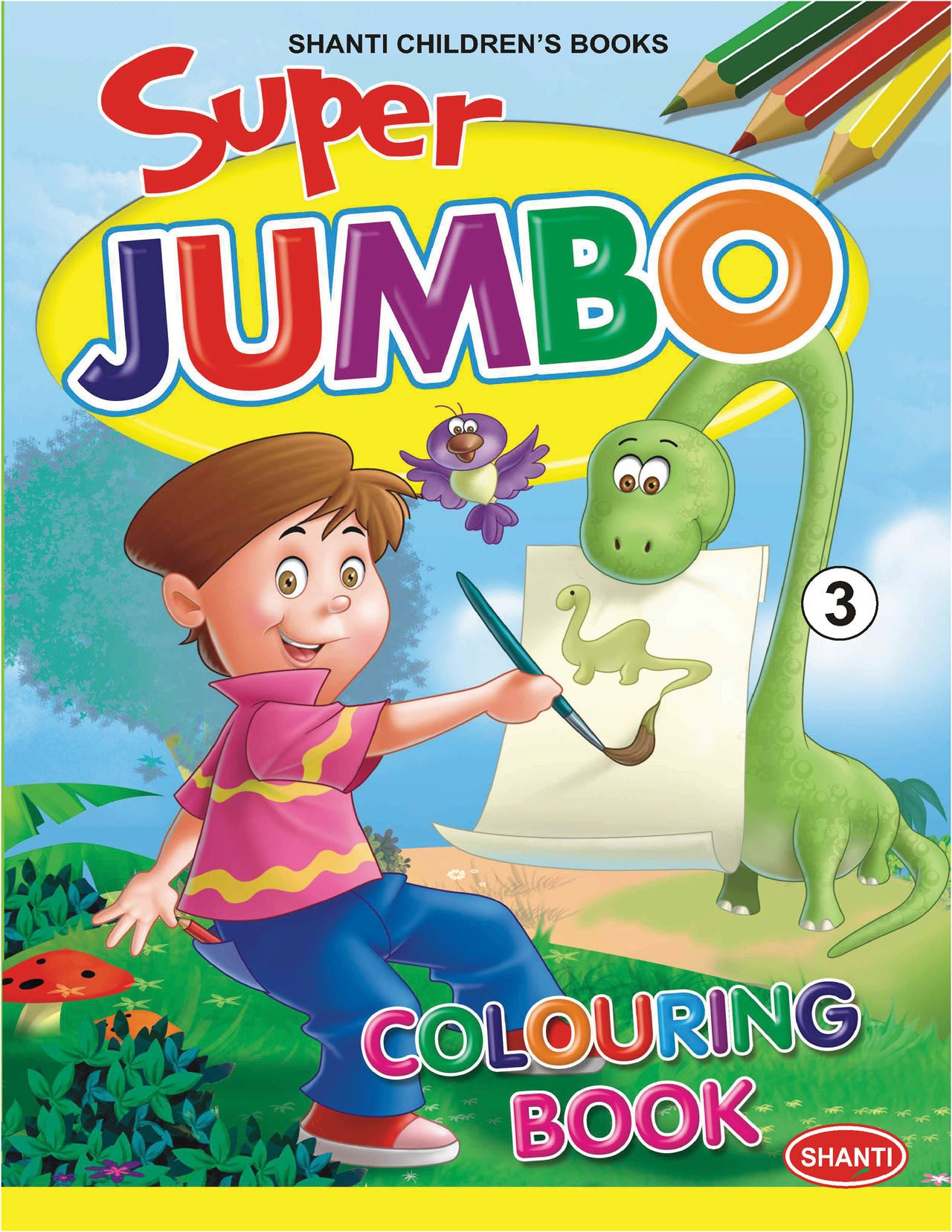 Colouring Book for Kids Super Jumbo Colouring Book 3 Ekas