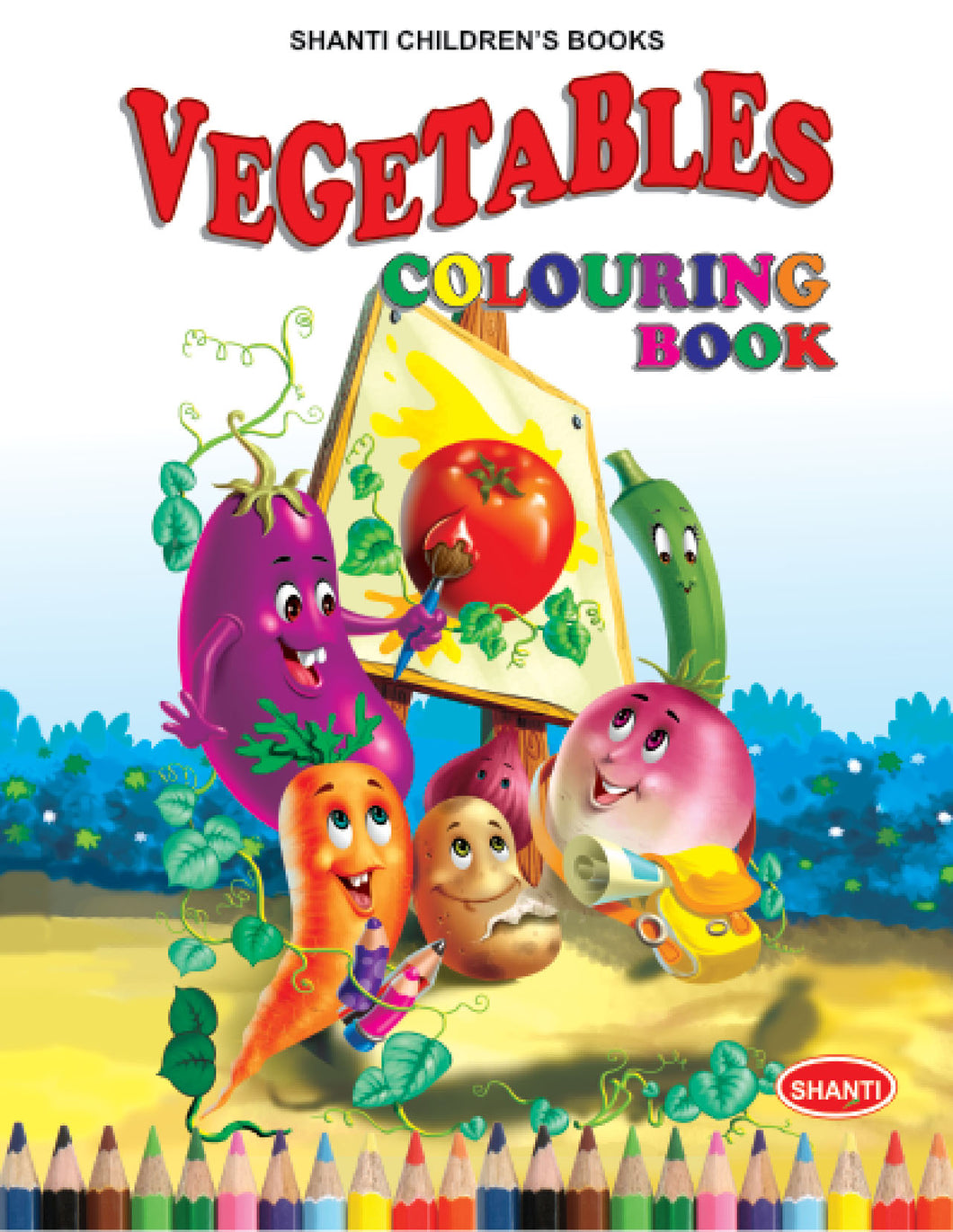 Colouring Books for Kids - Theme Colouring Book - Vegetables