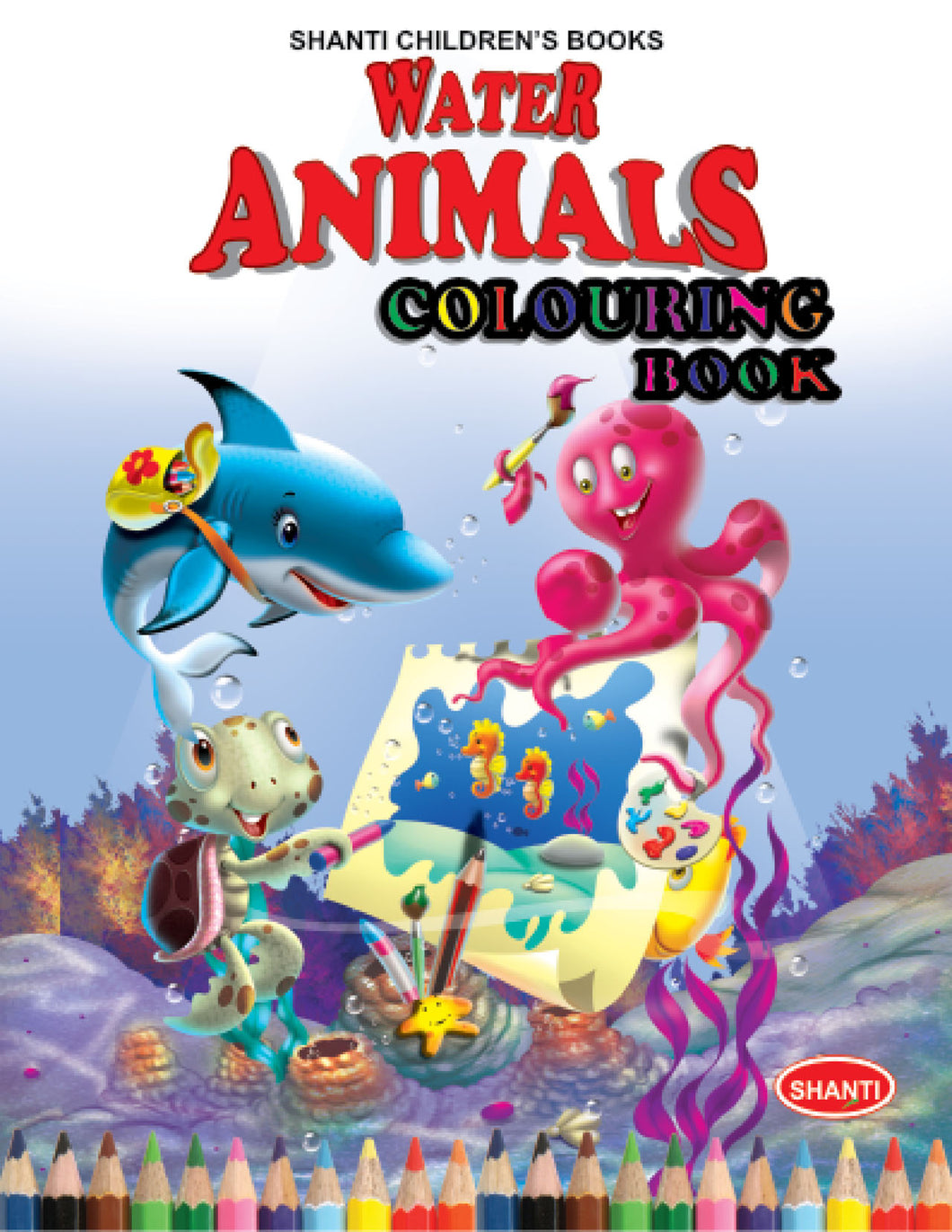 Colouring Books for Kids - Theme Colouring Book - Water Animals