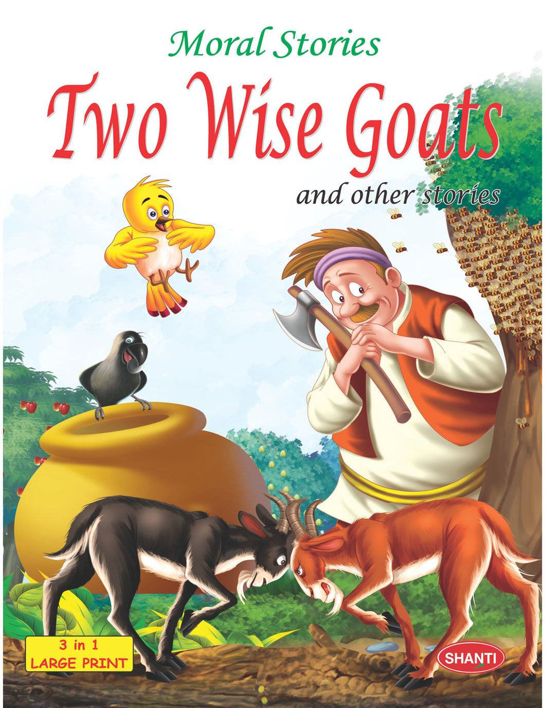 Story Book for Kids-Moral Stories (English) - Two Wise Goats and other Stories