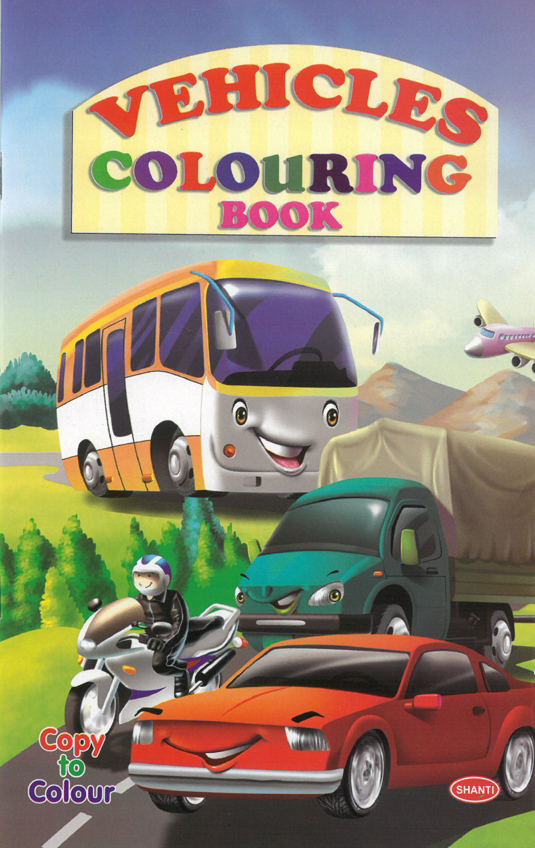Colouring Books for Kids - Vehicles Colouring Book