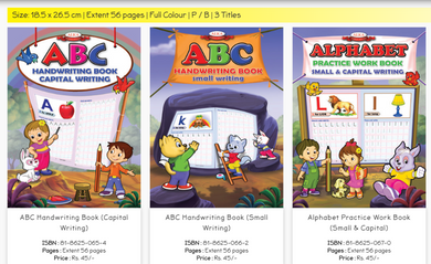 capital and small alphabet writing books for kids