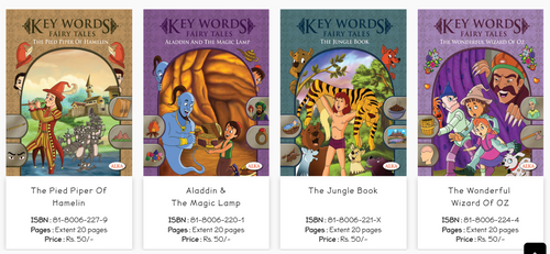 these Fairy Tales books contain the stories of Aladdin and Magic Lamp, Jungle Book, Wizard of Oz, Pied Piper