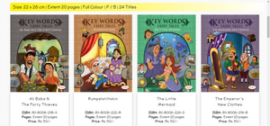 these Fairy Tales for Kids contain the story of Ali Baba and Forty Thieves, Little Mermaid, Rumpelstiltskin, The Emperor's  New Clothes