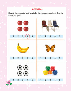 Maths Activity Books for 3 Years Old