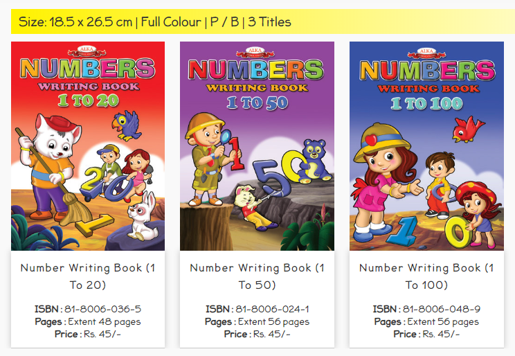 Number Writing Books for Kids