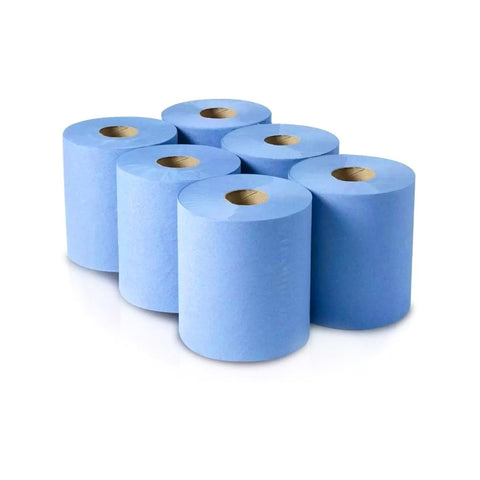 MegaMaxx 2-Ply Premium Embossed 190mm Blue Roll (Pack of 6)