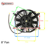 Universal Slim Line Radiator Fan (6 Sizes Available)