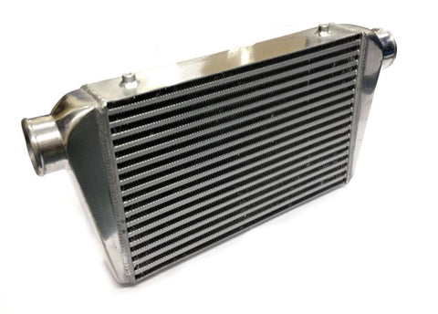 Universal Large Front Mount Intercooler - Bar & Plate Design - 640x300x75mm - 76mm Inlets