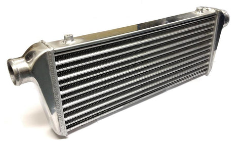 Universal Large Front Mount Intercooler - Tube & Fin Design - 720x220x55mm - 57mm Inlets