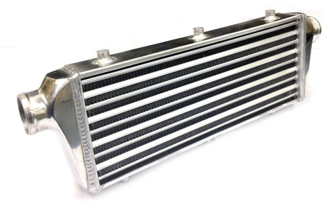 Universal Medium Front Mount Intercooler - Tube & Fin Design - 600x180x60mm - 57mm Inlets