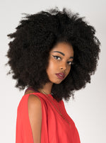 Nefertiti Curly 3C Hair Extension in-action in-use