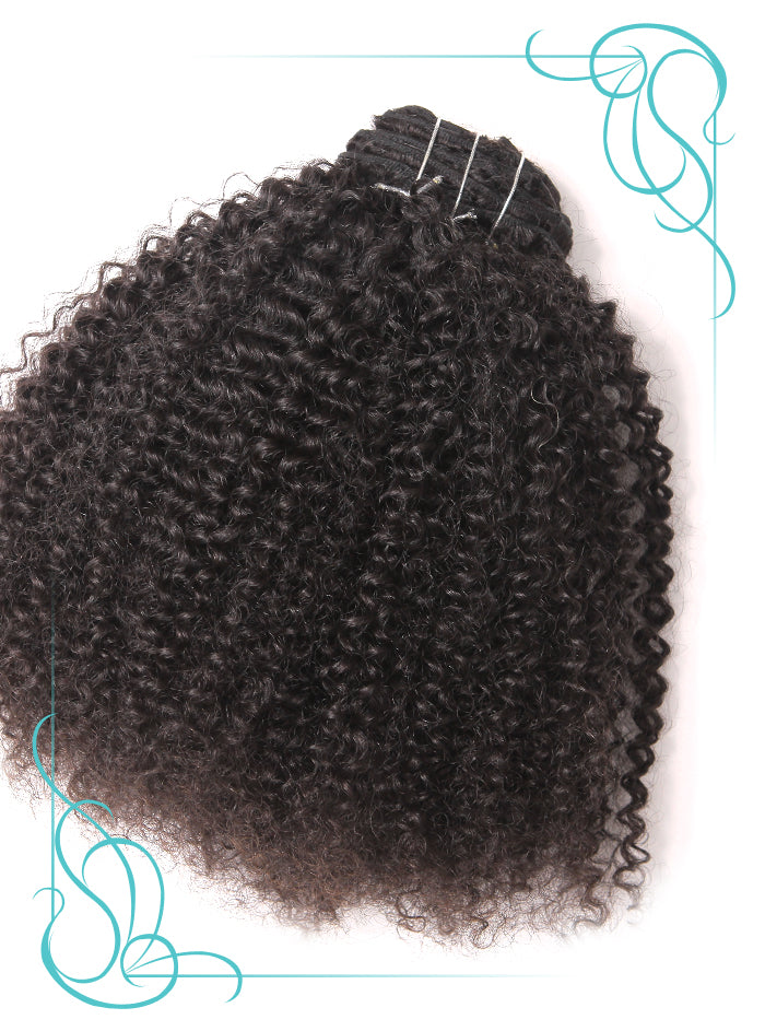 Sheba Kinky Curly 3C Hair Extension outside  view