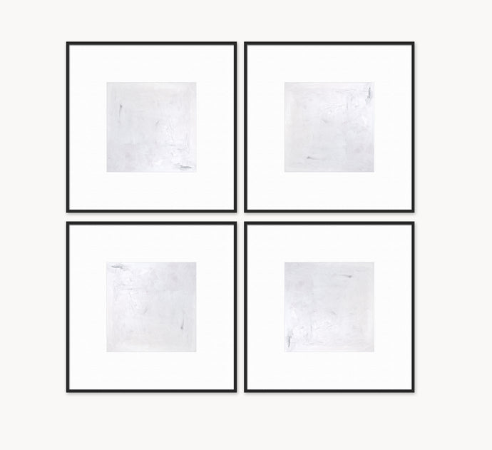 Set of 4 Neutral Framed Art