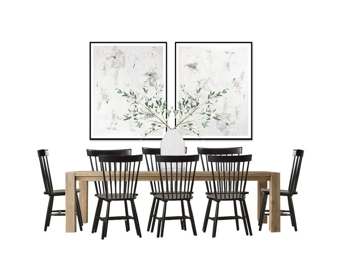 Casual Dining Room - Black & White