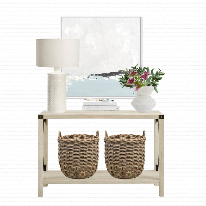 Coastal Landscape Console Table