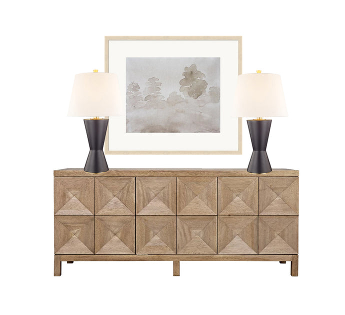 Black & Tan Console Table Styling, Neutral Console Table Styling