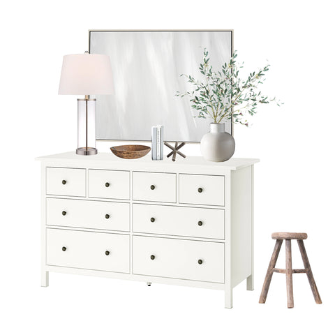 Neutral Dresser Decor & Styling