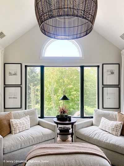 Set of 4 Black and white art, neutral sitting room inspiration, gallery wall ideas