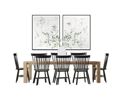 Casual Dining Room Design Board Black & White