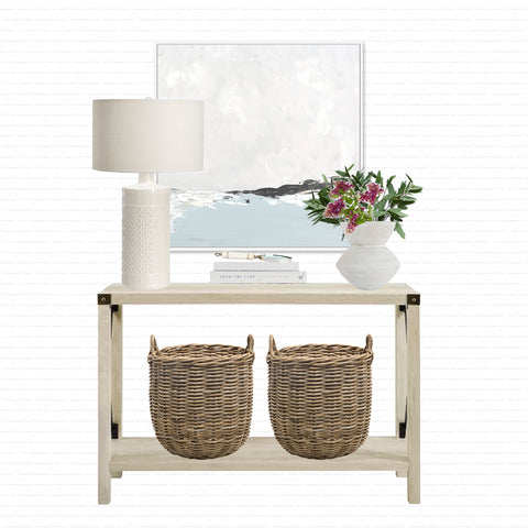 Coastal Entryway Ideas, Entryway Design Ideas, Console Table Ideas