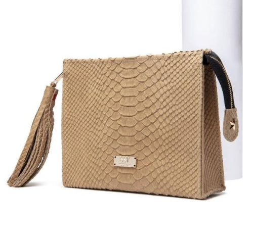 The Ara Vira Clutch in Camel - SSY Designs